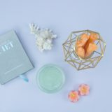 Self-care kit: Quiet book, seashell, body scrub and candles!