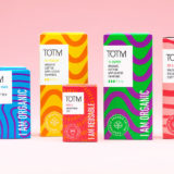 TOTM organic tampons, organic pads, liners and menstrual cups range in Tesco