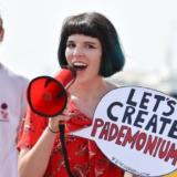 Period powerful activist Ella Daish campaigning for plastic free periods
