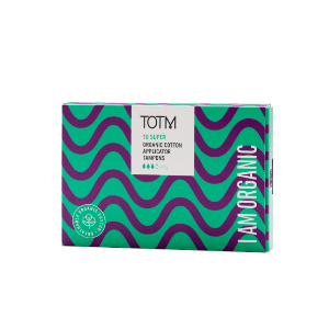 super applicator tampons made with organic cotton by TOTM