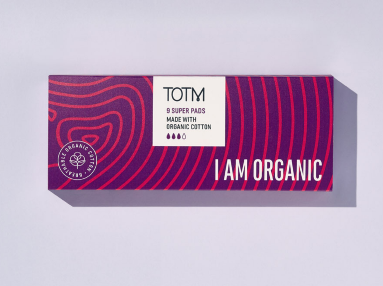 TOTM organic cotton super flow pads