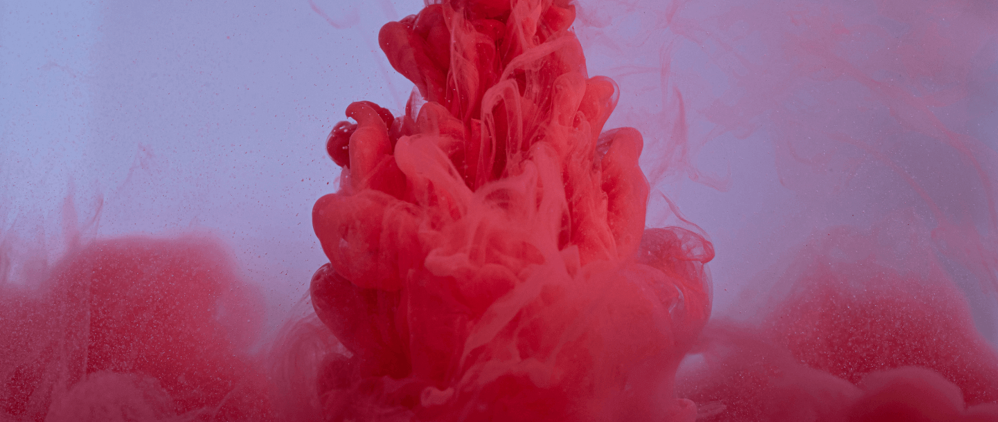 red ink in water abstract