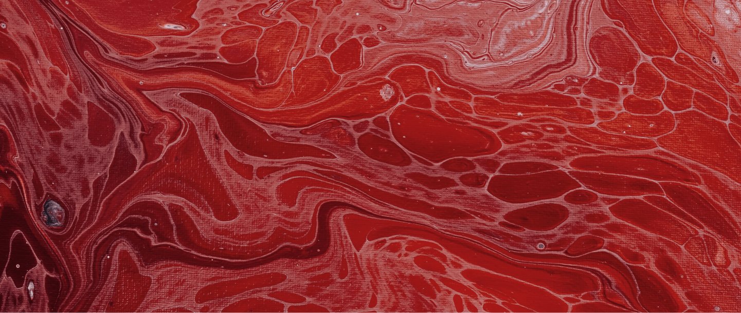 Red acrylic background to represent period blood