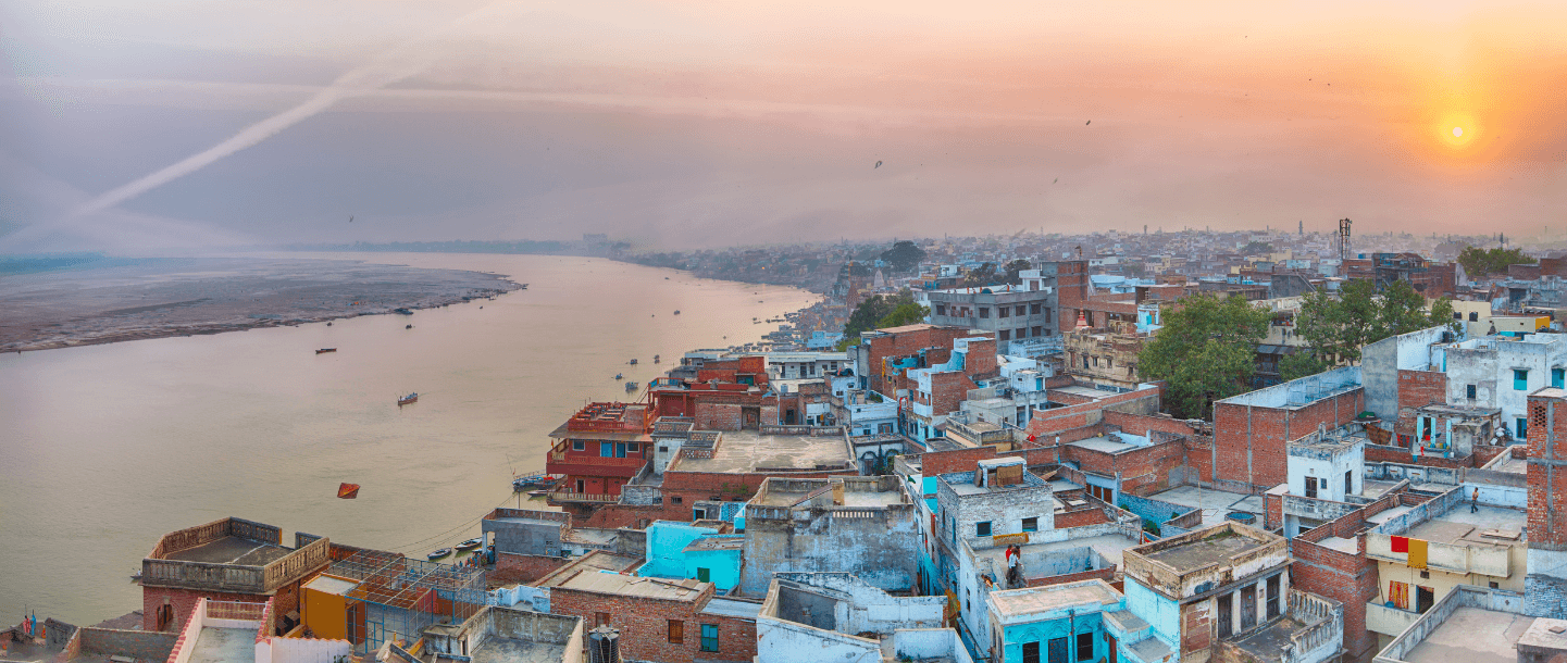 Sunset view travelling on holiday in Varanasi