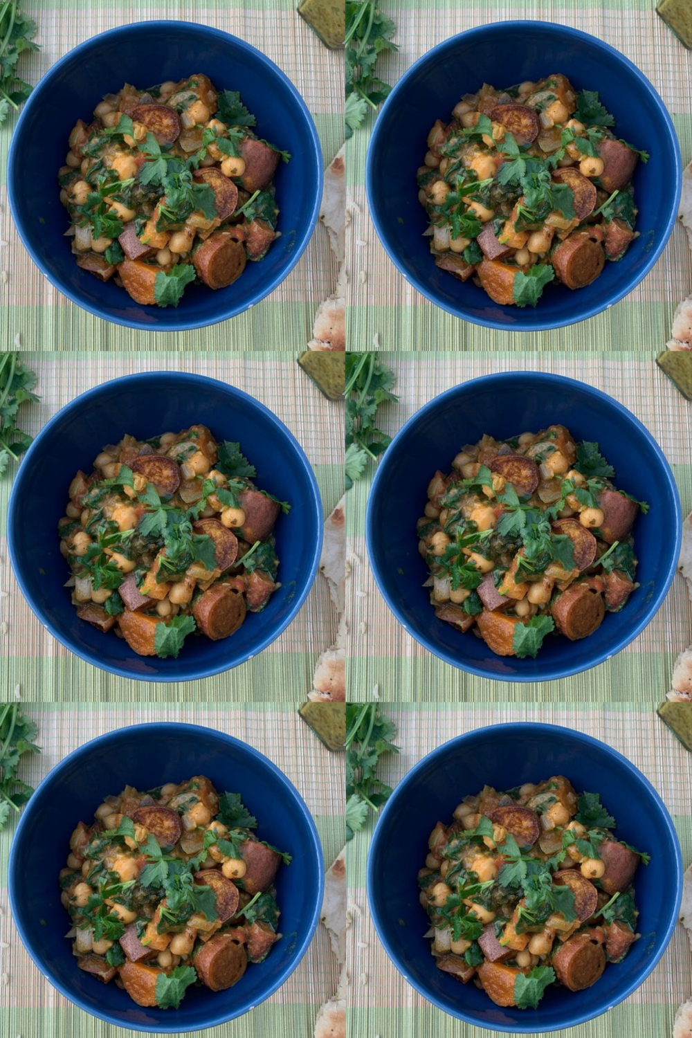 Healthy, lockdown-friendly recipe: Sweet potato, chickpea & spinach curry bowl
